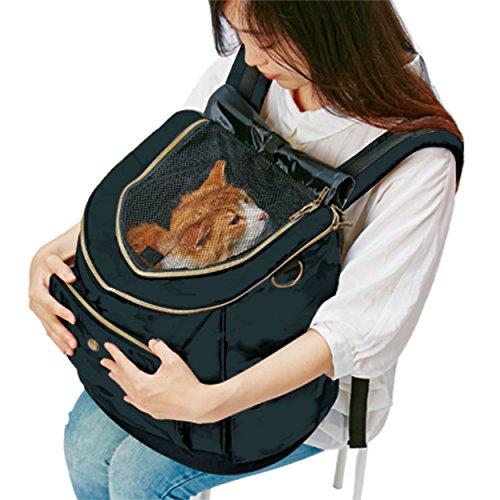 ペティオ(Petio)ネココリュックキャリーブラック猫用