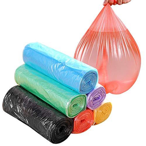Vuilniszakken van 52 x 45 cm, 6 verpakkingen 5 rollen/pak kleurrijke plastic dikke wegwerp vuilniszakken Point-Break vuilnisbak voering voor thuis toilet Keukenafval(willekeurig)