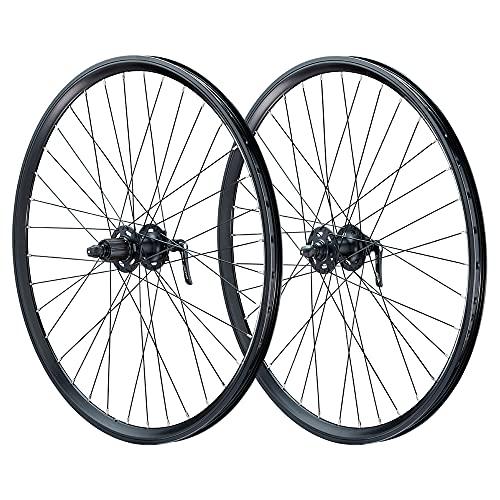 Vuelta - Juego de ruedas para bicicleta (27,5 pulgadas, DC19, con ojales, Shimano Deore XT 756, 6 L), color negro