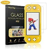 HEYSTOP Protection Écran pour Nintendo Switch Lite (2 Packs), Protection Film en Vitre Tempered pour Nintendo Switch Lite, Couverture Complète et Anti-Bulle