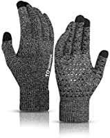 TRENDOUX Winter Gloves for Men and Women - Upgraded Touch Screen Anti-Slip Silicone Gel - Elastic Cuff - Thermal Soft...