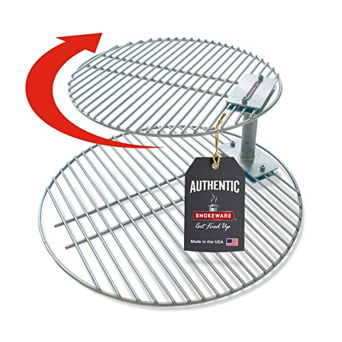 SMOKEWARE Stacker & Grill Grate Combo (Top Grate and Stacker Only) – Compatible with Large Big Green Eggs, Stainless Steel Grill Accessories …