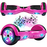 FLYING-ANT Hoverboard, 6.5 Inch Self Balancing Hoverboards with Bluetooth and Flashing LED Lights, Hover Board for Kids Teenagers