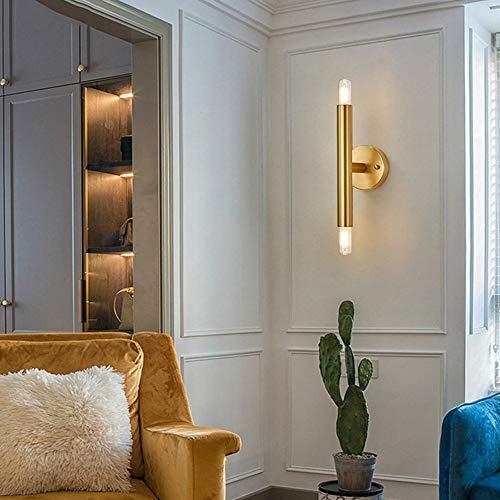 De enige goede kwaliteit decoratie Post-moderne minimalistische wandlamp creatieve woonkamer TV achtergrond Aisle geheel Scandinavische minimalistische slaapkamer nachtlampje 12 * 47cm koper
