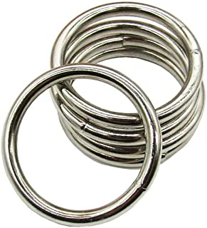 40mm Multi-Purpose Metal O Ring Non Welded O Ring for DIY Accessories Hardware Bags Ring Hand Pack of 10