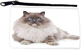 Fluffy Ragdoor Cat Sitting Zipper Coin Pouch - Coin Purse - Camera Case - MP3 Case