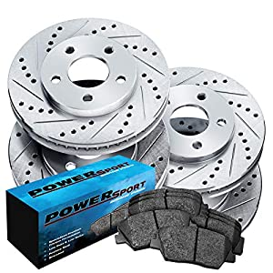 Fit 2006-2010 Lexus IS250 PowerSport Full Kit Brake Rotors Kit+Semi Met Brake Pads