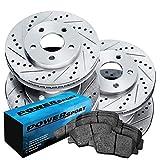 [FULL KIT] PowerSport Drilled Slotted Brake Rotors + Ceramic Pads BLCC.65145.02