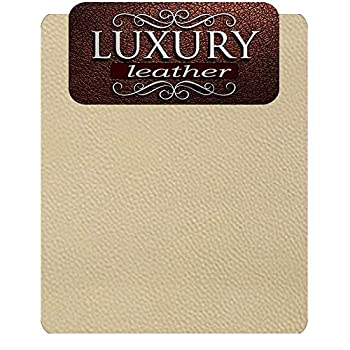 Genuine Leather and Vinyl Repair Patches Kit - Grain Self Adhesive Leather to Repair Furniture Couch Sofa Jacket  Beige 4   x 8