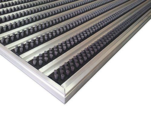 Aluminio Profesional Felpudo para sistema HD40, tamaño 92x 56cm, para empotrada Alfombrilla de instalación en así, incluyendo matwell Marco., Gris