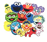 20 PCs Clothes Sesame Street Crtoon Patches Cartoon Patch Iron On for Clothing Stickers Appliques Patches Coat Jacket T-Shirt for Kids DIY Embroidered Patch
