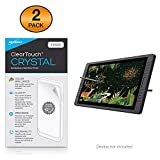 Huion KAMVAS GT-221 Pro Screen Protector, BoxWave [ClearTouch Crystal (2-Pack)] HD Film Skin - Shields from Scratches for Huion KAMVAS GT-221 Pro