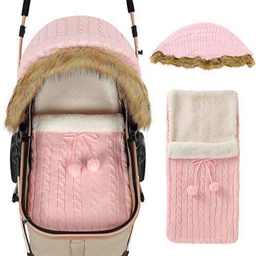 iFCOW Wickeldecke für Neugeborene, Baby Kinderwagen Abdeckung Schlafsack Set Neugeborene Kleinkinder Autositz Betthimmel Buggy Wickeltuch für Baby Mädchen Jungen