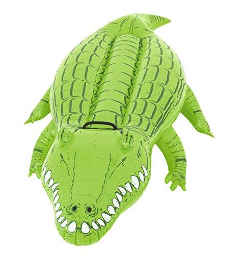 Bestway Natación Animales Crocodile, 163x 72x 30cm, verde