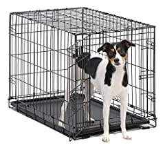 ICrate the 'All Inclusive Dog Crate' Includes Free divider panel, durable dog tray, carrying handle, 4 'roller' Feet to protect floors & Midwest quality Guarantee 1 year Warranty Your dog's home while you're away from home: Durable Design creates a s...