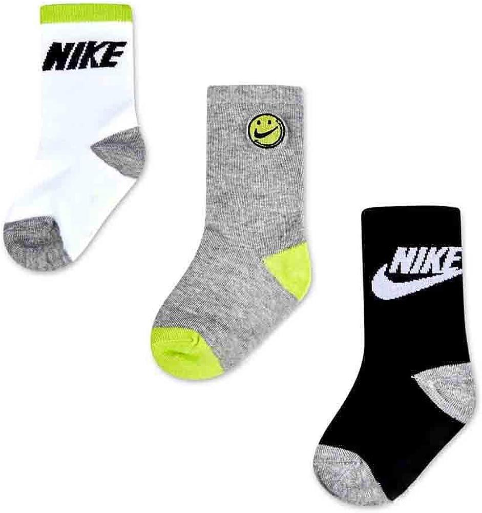 Nike Boy`s DNA Futura Lightweight Crew Socks 3 Pack