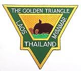 Das goldene Dreieck Eisen auf Patch/8,9cm bestickt Thailand Laos Myanmar Trekking Reise Badge Souvenir