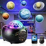 Planetario Proyector Estrellas, Lampara Estrellas Galaxia Proyector con Bocina Bluetooth, Control Remoto, Temporizador,...