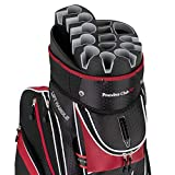 Founders Club Premium Golf Cart Bag with 14 Way Organizer Divider Top (Red)