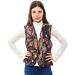 powerful TrailCrest Kids Front Loading Hunting Vest Mossy Oak Deluxe, Small, Breakup Country