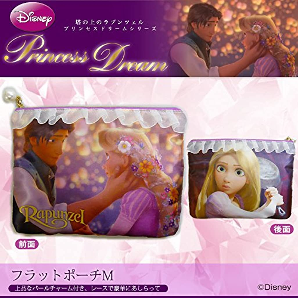 フェロー諸島バラ色不正確[ディズニー]  プリンセスドリームシリーズ/フラットポーチM [Rapunzel -ラプンツェル-]