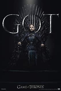 Pyramid America Game of Thrones Sansa Stark Iron Throne Season 8 Cool Wall Decor Art Print Poster 12x18