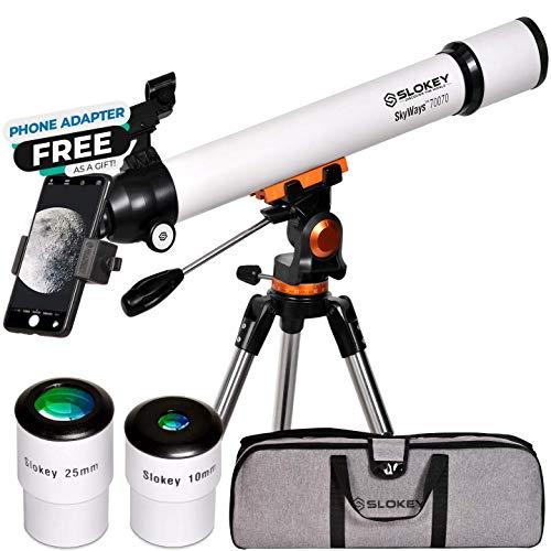 Telescopio Astronómico Profesional para niños y Principiantes - Portátil y Potente 28x-210x, Fácil de Montar y Usar...