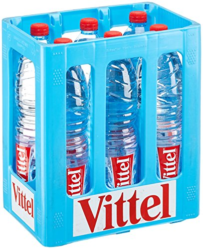 Vittel Natürliches Mineralwasser EINWEG, (6 x 1,50 l)