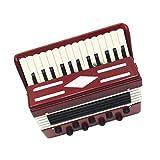 Juegos de Dollhouse Regalo de Colección Instrumento Musical Acordeón Madera