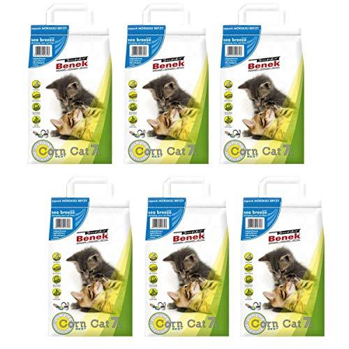Super Benek - Lettiera per gatti naturale con grumi, 40 l, antibatterica, usa e getta e ipoallergenica, con formula deodorante per il controllo degli odori, combinata con 4 palline giocattolo