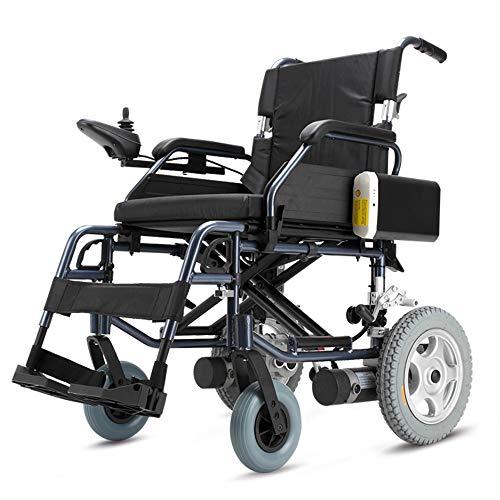 Elektrische compacte rolstoel, inklapbare lichtgewicht elektrische rolstoelen met anti-kiepbanden, super voor een strakke opslag in gesloten ruimten.