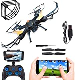 Amitasha 2.4GHz 360p WiFi HD Camera Remote Control Drone Quadcopter with 6-Axis Gyro and Altitude...