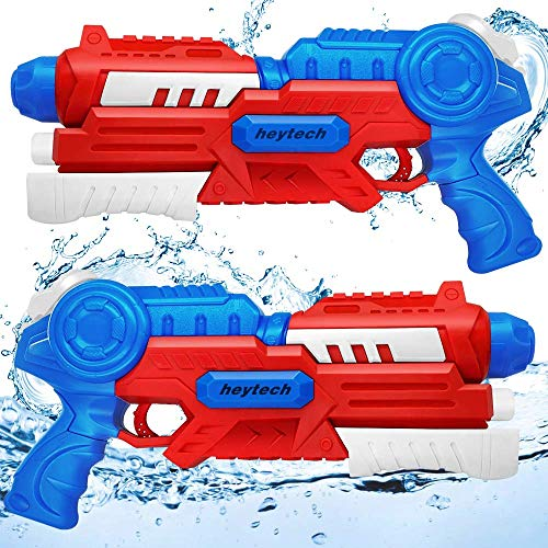 heytech 2 Pack Water Gun Super Water Blasters 1200CC High Capacity Water Soaker Squirt Guns Swimming Pool Toys Beach Sand Water Fighting Toy
