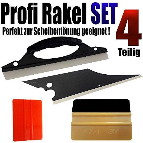 qili Profi Rakel Set 4-teilig1x 3M Gold Rakel +3 Spezialrakel perfekt Scheiben Tönen