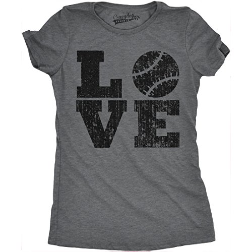 Womens Love Baseball Mama Funny Game Day Lover Cute T Shirt for Ladies (Dark Heather Grey) - XXL