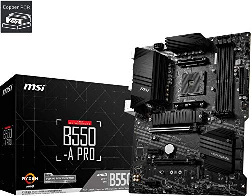 msi B550-A PRO AMD AM4 DDR4 M.2 USB 3.2 Gen 2 HDMI ATX Motherboard