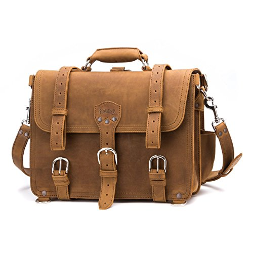 Saddleback Leather Co. Classic Leather Briefcase The Original Full Grain Leather Briefcase For Men Includes 100 Year Warranty
