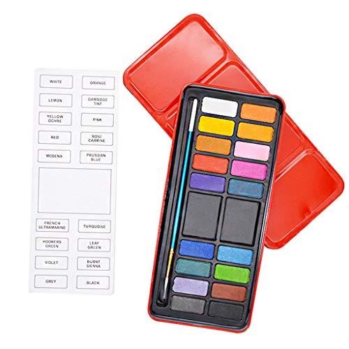 Unfair Conjunto De La Pintura De Color Sólido 12/18/24 Pigmento, El Color del Agua En La Paleta De Pintura con Pinceles Joyero Arte En La Elaboración De Herramientas De Mobile