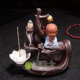 SEESEE.U Quemador de Incienso de bergamota Decoración Creativa Arena púrpura Lotus Avalokitesvara Quemador de Incienso Zen Inicio Quemador de Incienso de sándalo de Madera de agar