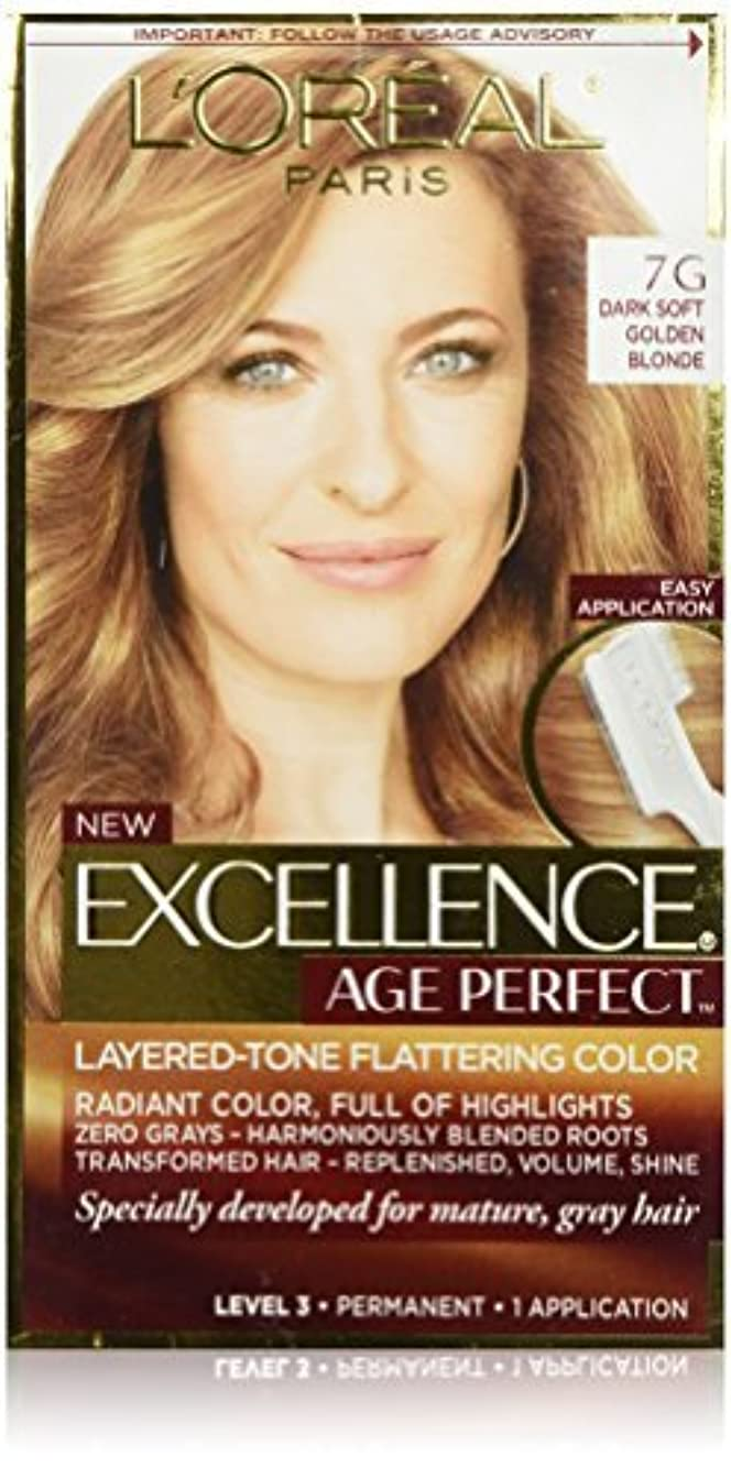 佐賀松明葉を拾うL'Oreal Paris Hair Color Excellence Age Perfect Layered-Tone Flattering Color Dye, Dark Natural Golden Blonde [並行輸入品]