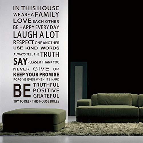 in Dit Huis Engels DIY Glas Vinyl Muurstickers Home Decor Woonkamer Sofa Muurstickers Decoratie Behang Schilderen
