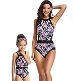 Happy Cherry - Bañador Madre e Hija Iguales de Verano Transpirable una Piezas Traje de Baño Familiar Elástica Bikini de Playa para Mujer Niñas