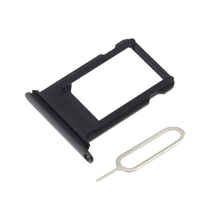 Afeax SIM Card Tray Holder Replacement for iPhone X Space Grey Black
