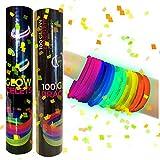 La Vida en Led 100 Pulseras Luminosas Glow Pack Multicolor Conectores extralargos