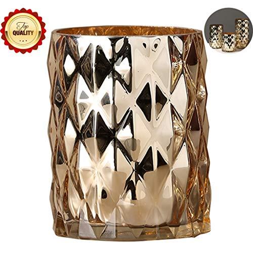 Priority Culture vaas, keramische vaas Amerikaanse eenvoudige gouden glazen vaas woonkamer salontafel TV-kast bloemenvaas interieur herdenkingsgeschenk