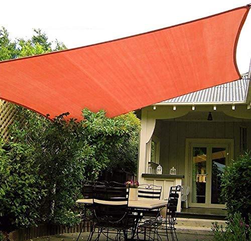 LONGSAND Toldo Impermeable UV Refugio Canopy Rectángulo Sun Shade Navega Gran Pantalla de Sombra más Gruesa para jardín Patio Trasero al Aire Libre,Naranja,3mx5m