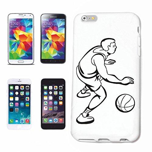 Funda para teléfono móvil compatible con Samsung Galaxy S4 Mini, baloncesto, balonmano, Mega Sports Hobby