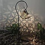 Willand DIY Garten Außen Gießkanne Art LED-Licht Solar Gießkanne Fairy Lichterkette Blinkt Garden Lichter Light Lampion Gartendekoration Licht Gießkanne (Mit Halterung)