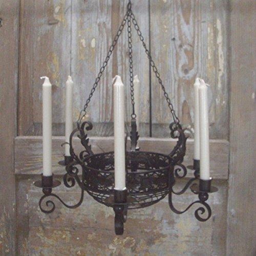 Unbekannt Kronleuchter mit Korb Landhausstil für Kerzen