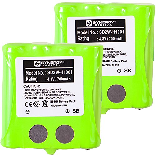 Synergy Digital Battery Combo-Pack Compatible with Motorola KEBT-072-B 2-Way Radio Battery Includes: 2 x SD2W-H1001 Batteries